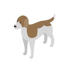 Beagle dog icon isometric 3d style vector image