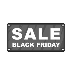 Black Friday plate icon cartoon style vector image