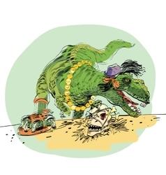 dinosaur t Rex female vector image vector image