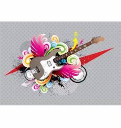 guitar urban vector image vector image