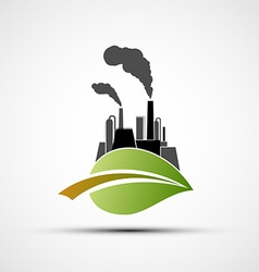 Industrial Plant and leaf vector image vector image