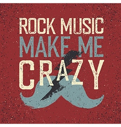 Vintage Rock Music label with lightning and vector image vector image