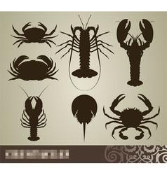 crustacean set vector image