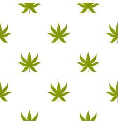 green chestnut leaf pattern seamless vector image vector image