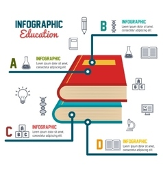 infographic education books school graphic vector image