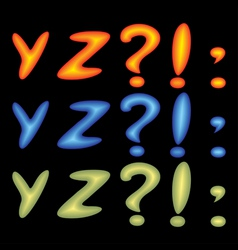 Letters yz vector