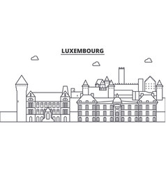 luxembourg architecture line skyline vector image vector image
