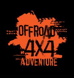 Off-road handmade lettering vector