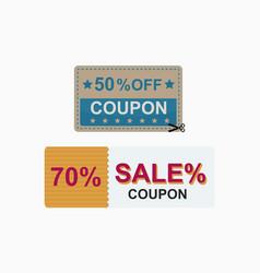 sale coupon card percent discount symbol vector image