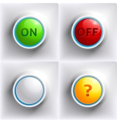 Three colors buttons red green yellow vector image
