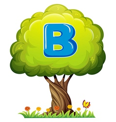 A tree with letter b vector