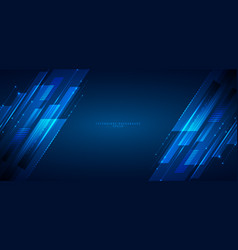 abstract banner web design template blue vector image