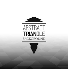Abstract black triangle field perspetive pattern vector