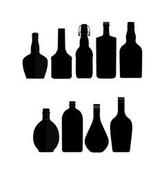 abstract bottles vector image