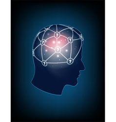 Abstract design human head and symbolic elements vector