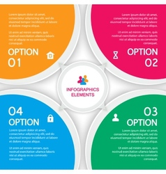 Abstract elements of infographics four options vector image