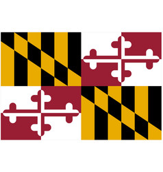 Accurate correct maryland md state flag vector