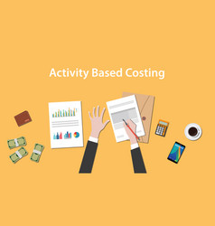 activity based costing with a man vector image