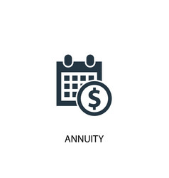 annuity icon simple element annuity vector image