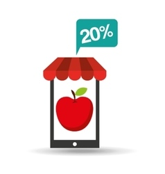 Apple discount shop online icon vector