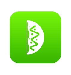 Asian dish icon digital green vector
