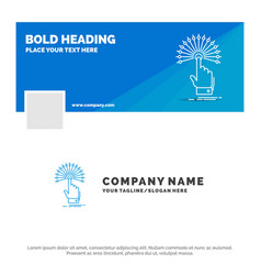 Blue business logo template for reach touch vector