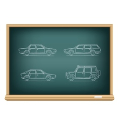 board types of cars vector image