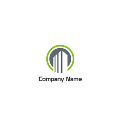 Building construction realty company logo vector