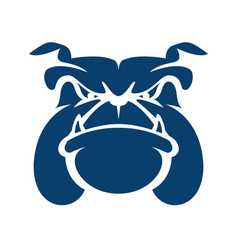 Bulldog head cartoon mascot logo vector