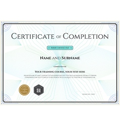 Certificate completion template botany theme vector