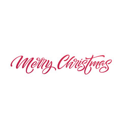 Christmas hand drawn lettering vector