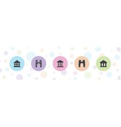 Column icons vector