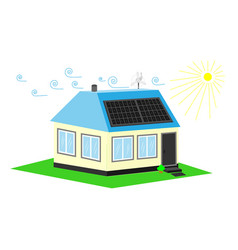 energy-saving or energo-passive house alternative vector image