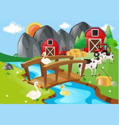 Farm animals living on the farm vector