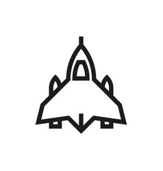 fighter airplane icon on white background vector image