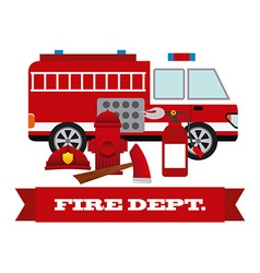 Firefighter label design vector