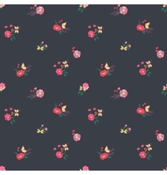 Floral Seamless Vintage Wildflowers Pattern vector