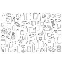 Food product set vector