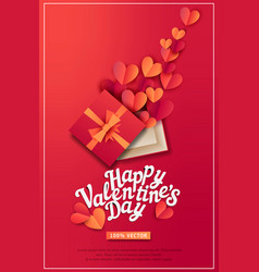 For valentines day gift box and vector