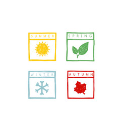 four seasons of the year vector image