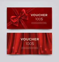 gift voucher design template set of premium vector image
