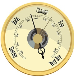 Golden barometer vector image