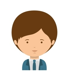 Half body man dressed formal style vector