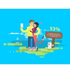happy married couple on vacation vector image