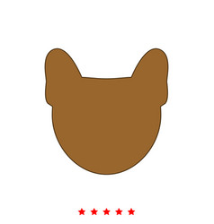head of dog it is icon vector image