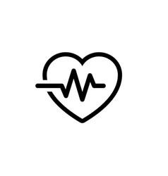 Heartbeat icon vector