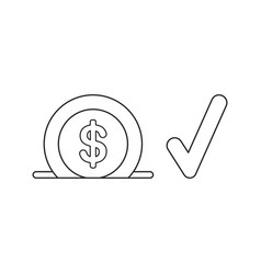 icon concept dollar into moneybox hole with vector image