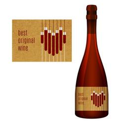 label for a bottle wine vector image