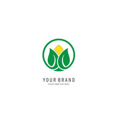 leaf spa symbol logo vector image