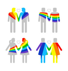Lgbt gay and lesbians homosexuals people couples vector